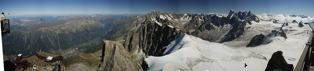 Panorama from Aiguille du Midi