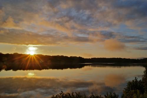 sun reflection water silhouette clouds sunrise dawn androscogginriver sonya230