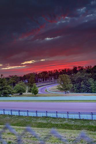 red clouds racetrack sunrise hdr watkinsglen watkinsgleninternational