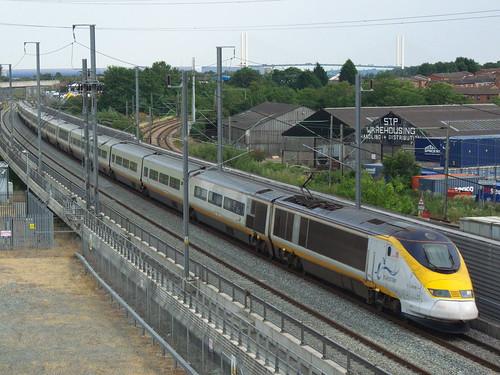 Class 373 Eurostar near Purfleet