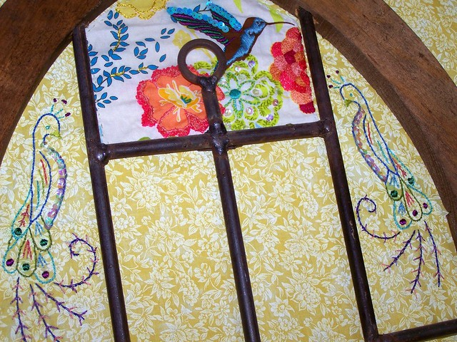 Embroidered Window Panes