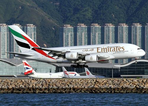 Airbus | A380-861 | Emirates | A6-EDC | Hong Kong | HKG | VHHH