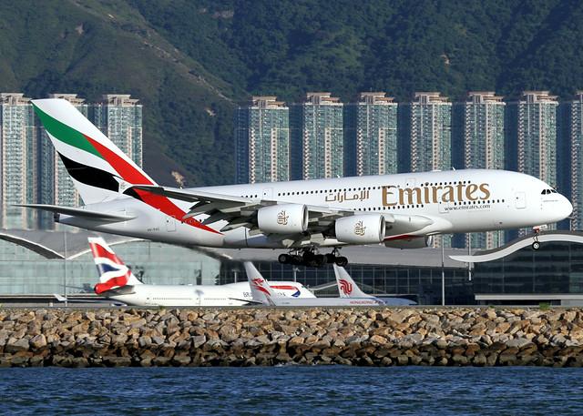 A380-861 | Emirates | A6-EDC | HKG