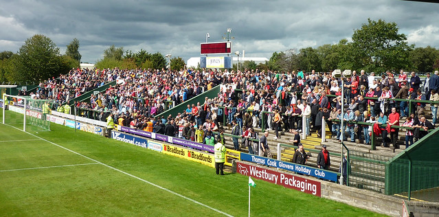 Huish Park (Copse Road Away End), Yeovil 27 August 2011