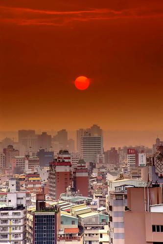 sunset taiwan 日落 sigma70300mm 台中市 taichungcity sonya850