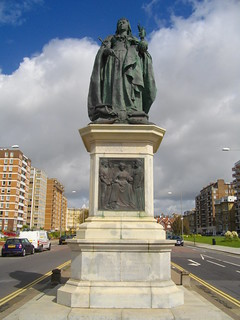 Billede af Queen Victoria Statue. statue hove queenvictoria
