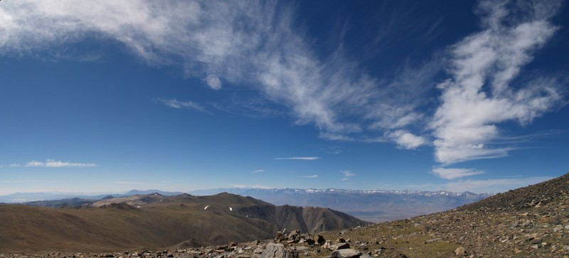 The eastern Sierra and Mount Barcroft in the distance