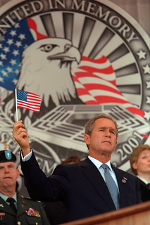 911: President George W. Bush at Department of Defense (DOD) Remembrance Service, 10/11/2001.