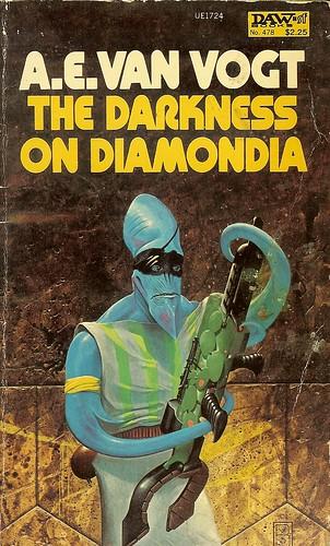 Darkness on Diamondia - A.E. Van Vogt - cover artist Wayne D. Barlowe