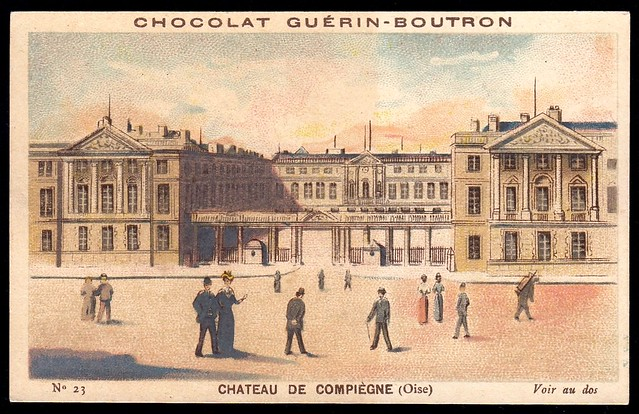 French Tradecard - Chateau de Compiegne