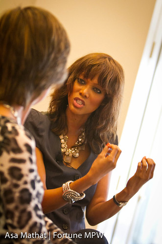 6209620415 9fa5307c93 Pattie Sellers and Tyra Banks at the Notebook Mentoring session, supported by Ann Inc. and Thomson Reuters, at the Fortune Most Powerful Women Summit in Laguna Niguel, CA.