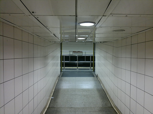 Waterloo. Empty Underground.