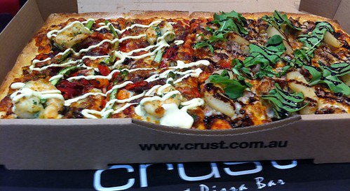 Pork Belly & Wagyu Pizza at Crust