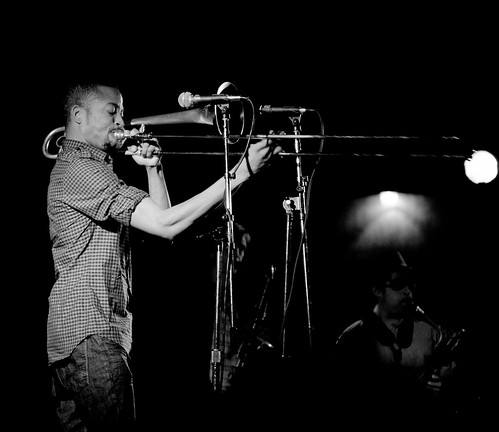 Trombone Shorty in Black and White