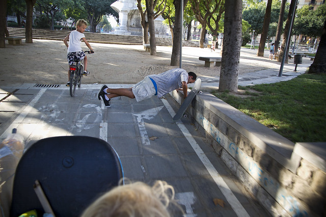 Barcelona Bike Lane Obstruction