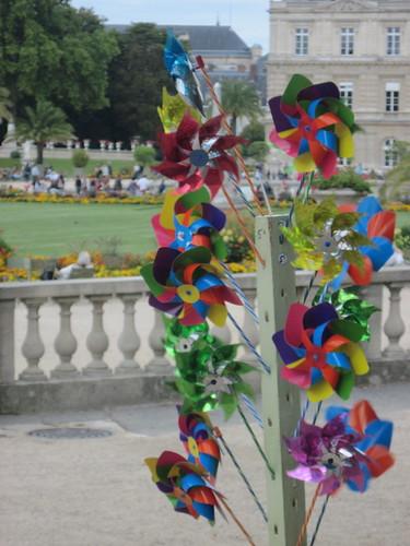 Pinwheels in Luxembourg Gardens