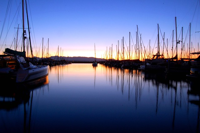 Sunsets on the Shilshole Marina