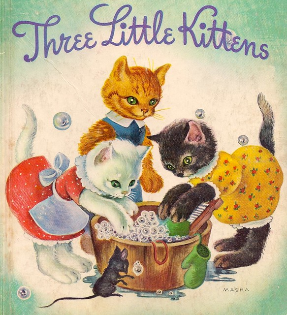 Three little kittens 1942 illustrated by masha The three cats