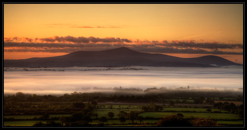 morning kilkenny ireland fog sunrise landscape early mountleinster mtleinster