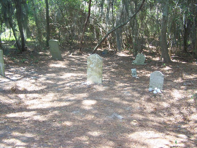 The graveyard at the site of the former Wash Woods church is a really unique spot.