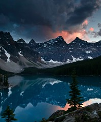 Sunset at Moraine Lake, Banff National Park, Alberta