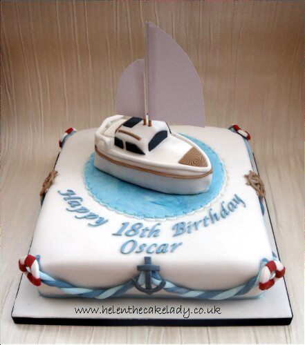 Sailing Boat 18th Birthday cake