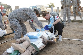 Medical exercise on Camp Victory