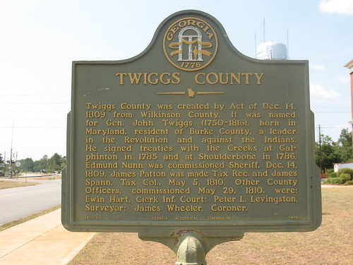Twiggs County Marker (GHC 143-8) Jeffersonville GA