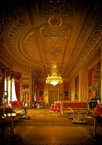 The Crimson Drawing Room - State Apartments at Windsor Castle England