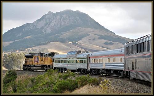 california railroad travel july amtrak unionpacific sanluisobispo bishopspeak chorro southernpacific northernpacific coaststarlight cuestagrade 2011