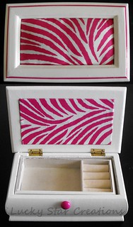 Zebra Jewelry Box After