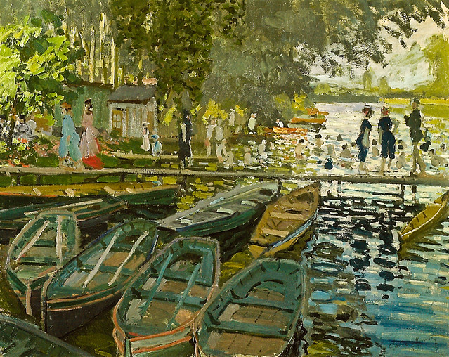Claude Monet - Bathers at La Grenouillere, 1869 at the ...