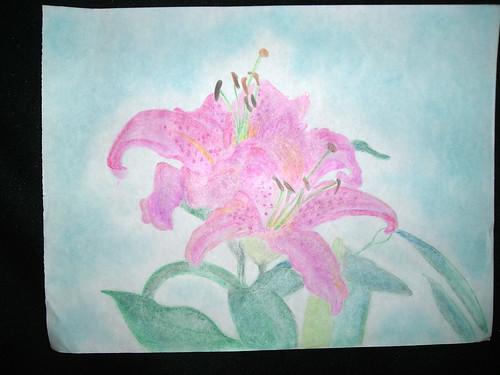 Flower. Jail art