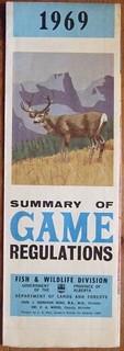 ALBERTA 1969 ---SUMMARY OF GAME REGULATIONS