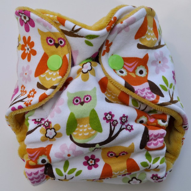 Bumstoppers Newborn Hybrid Fitted Sweet Owls **New Style**