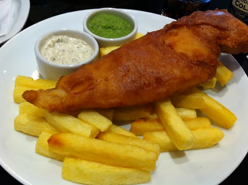 Fish and chips at the Tate Modern