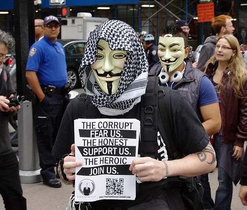 Occupy Wall Street Anonymous 2011 Shankbone