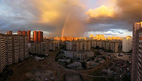 urban clouds apartments towers cities panoramas sunsets ukraine flats soviet rainbows lecorbusier kiev stitched kyiv goldenhour residences panoramics stalinist highdensity city17 україна київ doublerainbows київщина позняки ки́ев kievoblast київськаобласть украи́на kyivoblast kyivshchyna kyivs'kaoblast' pozniaky pozhiaky