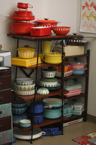 Sewing Room - Rainbow of Enamelware by Jeni Baker