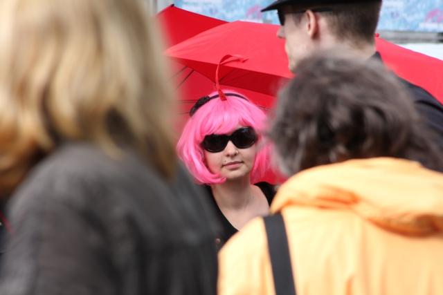 SlutWalk Hamburg - Red Umbrella