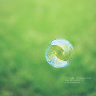 . a simple summer bubble .