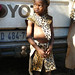 Young child dressed for Shembe religious ceremony