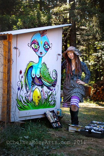 Harpy's Golden egg - coop mural in wolf creek oregon