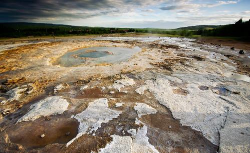 Strokkur landscape