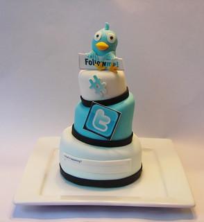 Twitter Addict 3 Tier mini cake