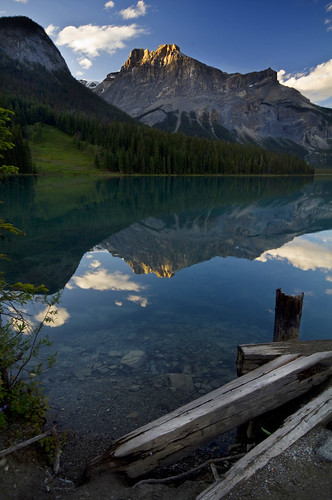 sunset canada rockies jasper columbia banff emerald yoho