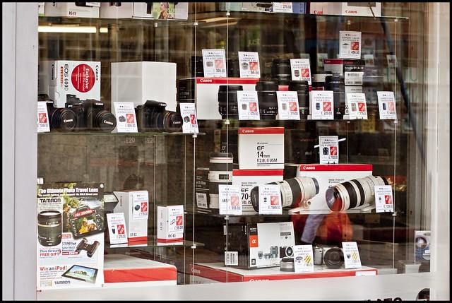 camera shop in swindow
