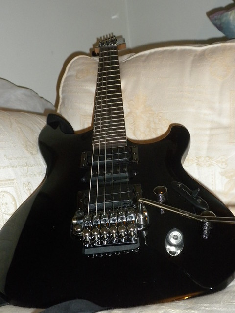 Photo:Ibanez s470 black guitar By rockbadger