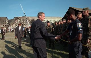 911: President George W. Bush Visits Pentagon, 09/12/2001.