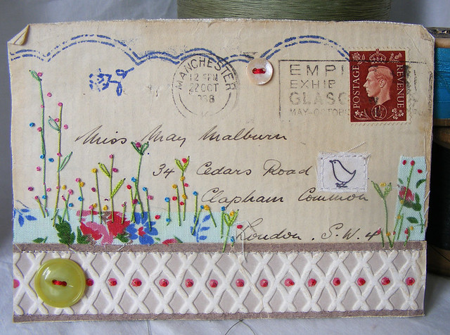 collaged 1938 british envelope